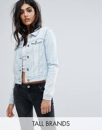 light wash denim jacket womens noisy may tall noisy may tall denim jacket
