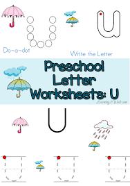 free letter u preschool worksheets learning 2 walk