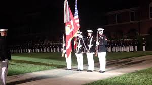 Marines Holding Flag Marine Corps Color Guard 5 3 13 Youtube