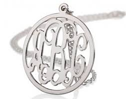 circle monogram necklace 96 best monogram necklace images on monograms