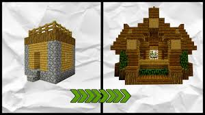 Small House Minecraft Minecraft How To Transform A Village Small House Tutorial Youtube