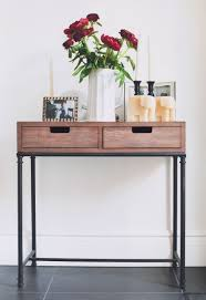 Slim Sofa Table by Short Narrow Console Table Front Entry Table Back Sofa Table