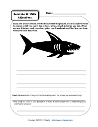 describe it describe it with adjectives 2nd grade adjective worksheets