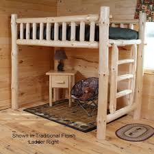 Mountain Woods Rustic Aspen Log Bunk Bed - Log bunk beds