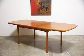 Beautiful Danish Teak Butterfly Leaf Dining Table Vintage Supply - Dining room table with butterfly leaf