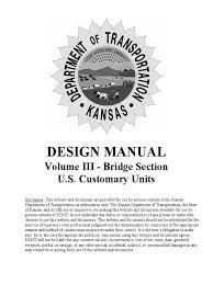 dot of kansas kdot bridge design manual 2014 pdf