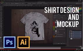how to design a shirt u0026 make a mockup adobe illustrator