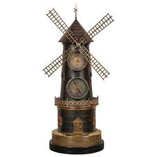 Target Home Decor Sale French Industrial Animated Windmill Clock For Sale At 1stdibs