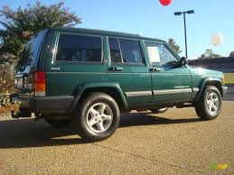 jeep cherokee 2001 forest green pearlcoat 2001 jeep cherokee sport 4x4 exterior photo