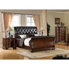 Sleigh Bed Set Furniture Of America Hulga 3 Sleigh Bedroom Set Idf