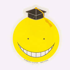 yellow koro sensei sticker home decor