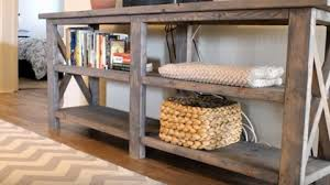 build a console table they show you how to build this amazing rustic console table that