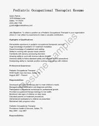 Sample Occupational Therapy Resume by Sample Occupational Therapy Resume Youtuf Com