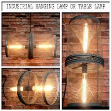 Hanging Industrial Lights by Industrial Vintage Minnow Trap Up Cycled Hanging Light Or