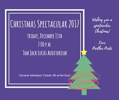 christmas spectacular tickets panther pride wishes you a spectacular christmas lufkin high school