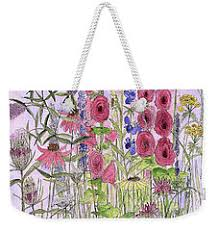 wild garden flowers weekender tote bag by laurie rohner laurie