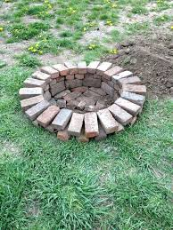 How To Build A Square Brick Fire Pit - fire pit with bricks u2013 jackiewalker me