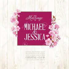 wedding backdrop vector free wedding invitation on wooden backdrop flowers cherry