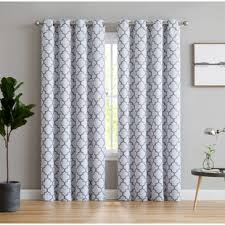 Gray And White Blackout Curtains Gray And Silver Curtains Drapes You Ll Wayfair