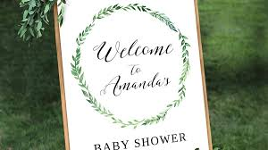 baby shower welcome sign adorable etsy finds for the next baby shower you host southern