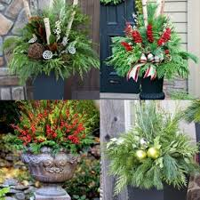 24 colorful outdoor planters for winter and decorations