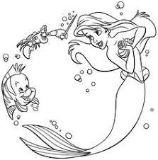 flounder ariel coloring pages ariel