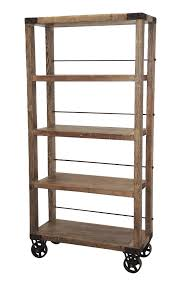 tall industrial bookcase on wheels custom furniture gallery