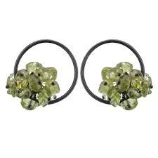 peridot earrings pajak shop undina collection adva small hoop