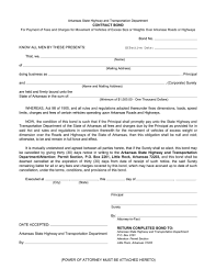 Arkansas Power Of Attorney Form by Arkansas Fee Payment Surety Bond