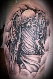 fallen angel tattoo meaning on leg for women