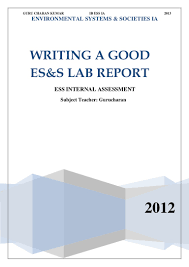 soil report sample ib ess how to write a good lab report