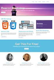 bootstrap themes header free website template beacon bootstrap template creative beacon