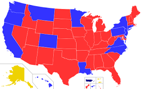 map of us states political political strength in u s states