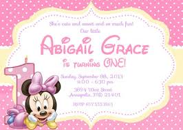 baby minnie mouse 1st birthday baby minnie mouse birthday party invitation