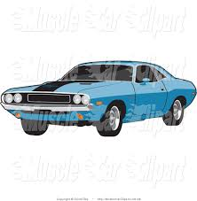 teal car clipart royalty free dodge stock muscle car designs