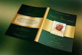 modern funeral programs green regal funeral program template on behance