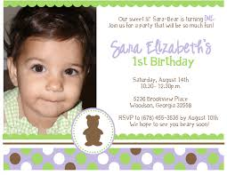Design For Birthday Invitation Card First Birthday Invitation Wording Plumegiant Com