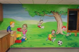 gross motor room playroom mural free sky studios professional playroom landscape mural painting