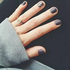 short matte nail design manicure idea violet gray looks like