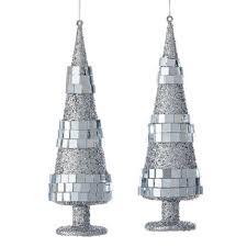 silver tree ornament set