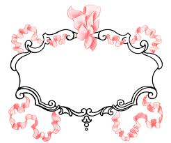 vintage pink ribbon frame image super pretty