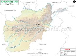 kabul map afghanistan river map major rivers in afghanistan