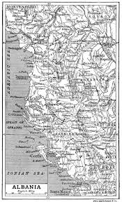 Map Of Albania Map Of Albania 1906 Full Size
