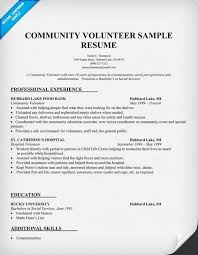 Public Speaker Resume Sample Free by Sample Resume Showing Volunteer Work Community Volunteer Resume