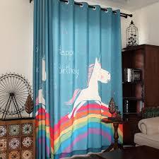 Boy Bedroom Curtains New Children Curtains Lovely Rainbow Print
