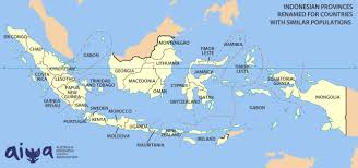 Map Size Comparison How Big Are Australia And Indonesia Australia Indonesia Youth