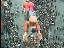 underdog balloon 1980 macy s day parade thanksgiving day pink