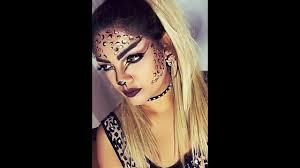 Cheetah Face Makeup For Halloween Leopard Halloween Makeup Tutorial Youtube