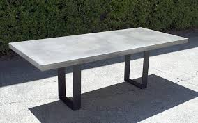 Cement Patio Table Concrete Look Outdoor Dining Table Outdoor Designs