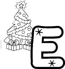 Coloriage Alphabet  lettre E  Tête à modeler